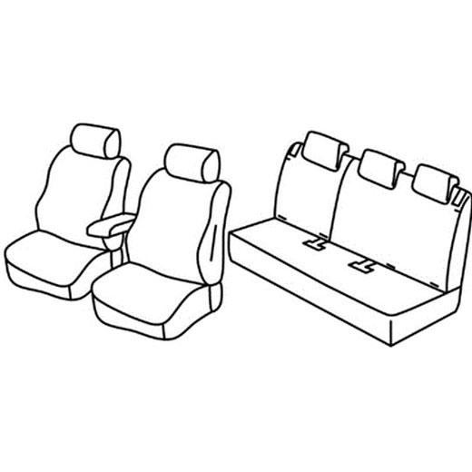 Sedežna prevleka za Opel Crossland X