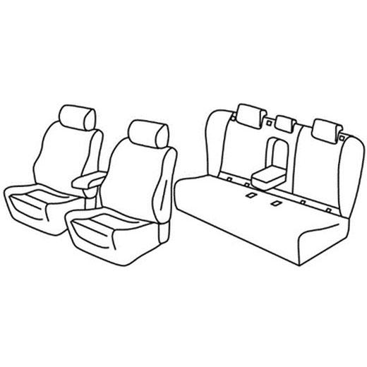 Sedežna prevleka za Opel Insignia Sports Tourer