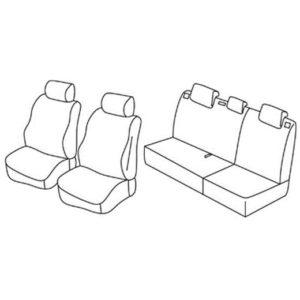 Sedežna prevleka za Opel Karl