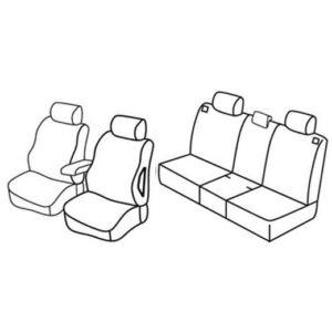 Sedežna prevleka za Opel Meriva