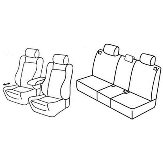 Sedežna prevleka za Opel Meriva ARG