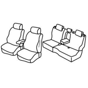 Sedežna prevleka za Opel Mokka X Chevrolet Trax