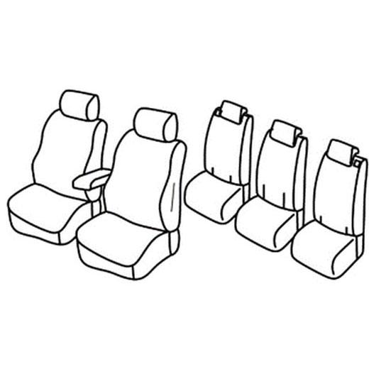 Sedežna prevleka za Opel Zafira C Enjoy