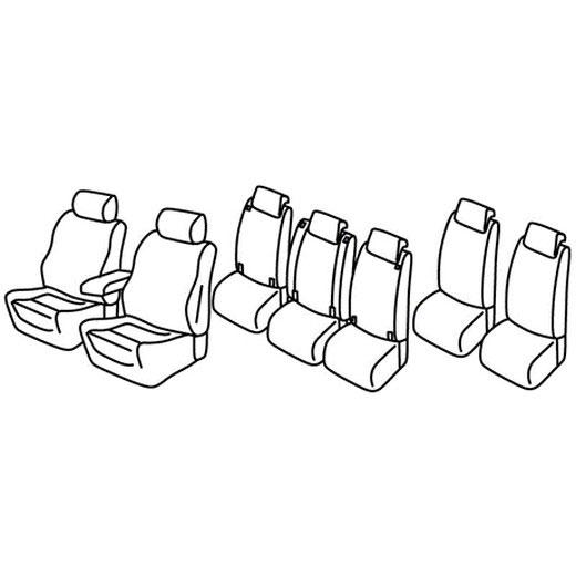 Sedežna prevleka za Opel Zafira C Exclusive