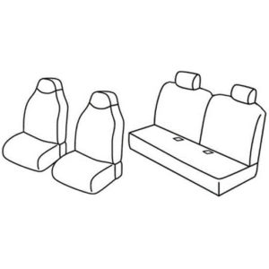 Sedežna prevleka za Peugeot 107 Toyota Aygo Citroen C1