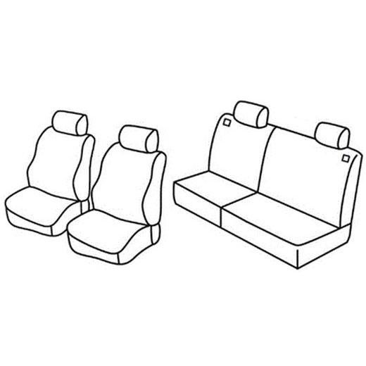 Sedežna prevleka za Peugeot 206