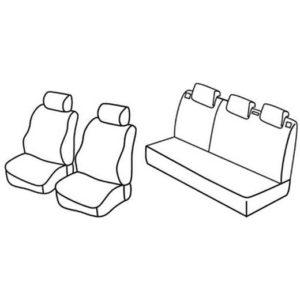 Sedežna prevleka za Peugeot 206 Plus x-line