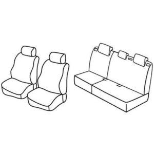 Sedežna prevleka za Peugeot 207