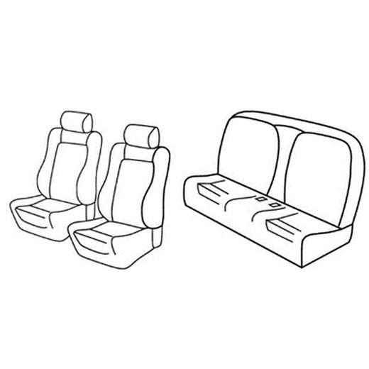 Sedežna prevleka za Peugeot 207 CC