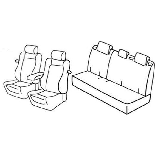 Sedežna prevleka za Peugeot 208