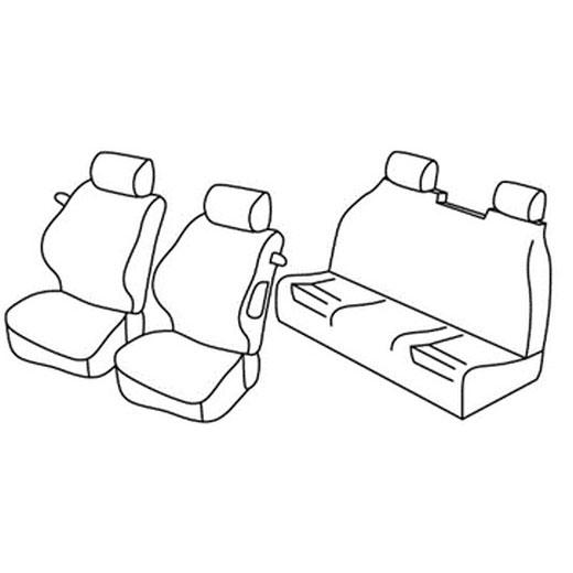 Sedežna prevleka za Peugeot 307 CC