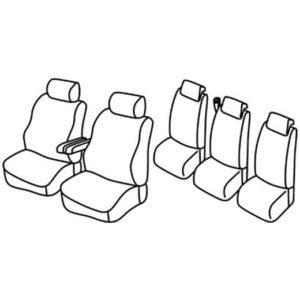 Sedežna prevleka za Peugeot 307 SW Redesign