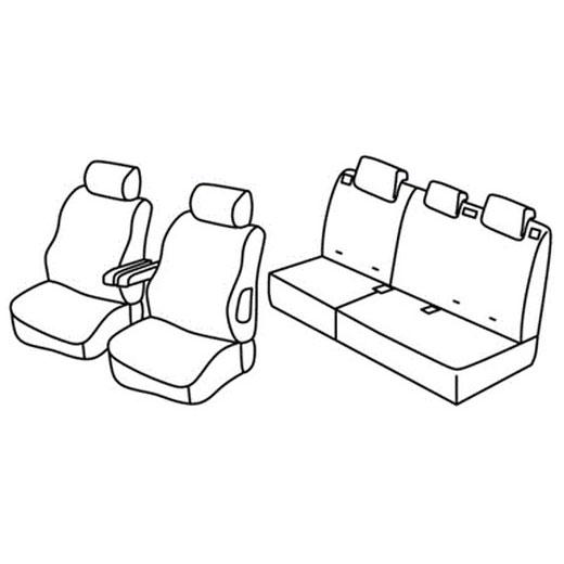 Sedežna prevleka za Peugeot 307