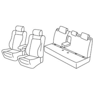 Sedežna prevleka za Peugeot 308 Allure