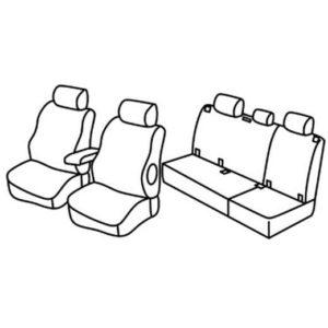 Sedežna prevleka za Peugeot 407