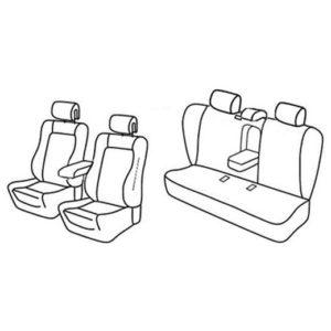 Sedežna prevleka za Peugeot 508 Active