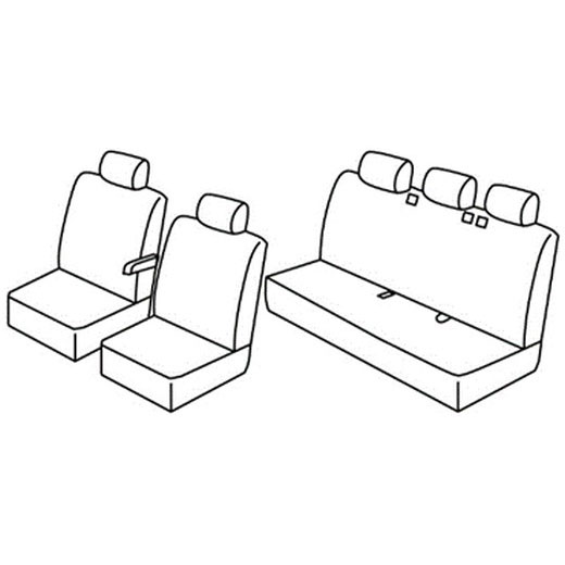 Sedežna prevleka za Peugeot Expert