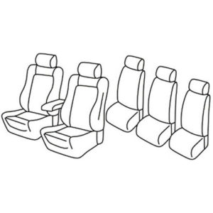 Sedežna prevleka za Renault Espace