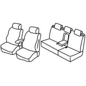 Sedežna prevleka za Renault Fluence Facelift