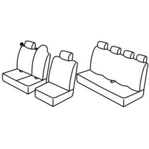 Sedežna prevleka za Renault Master 3