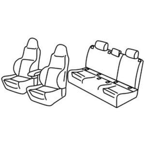 Sedežna prevleka za Renault Megane 4 GT line