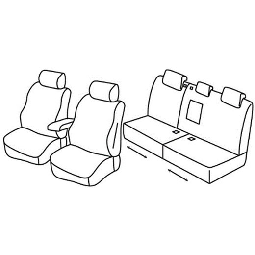 Sedežna prevleka za Renault Modus