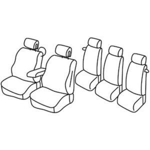 Sedežna prevleka za Renault Scenic