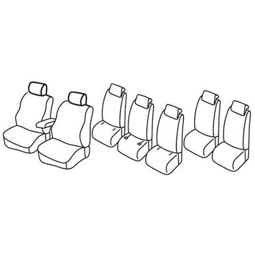 Sedežna prevleka za Renault Scenic 3