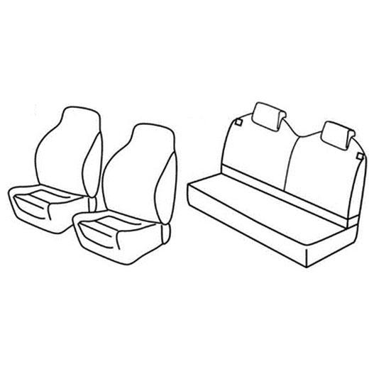 Sedežna prevleka za Renault Twingo 3