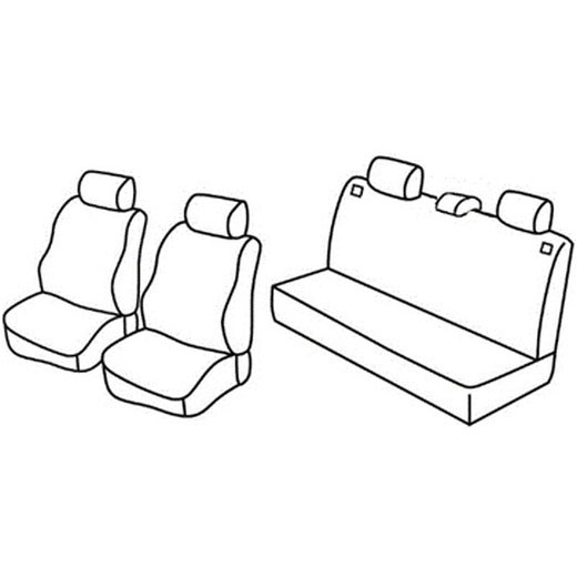 Sedežna prevleka za Seat Ibiza