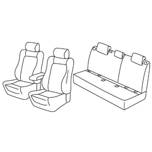 Sedežna prevleka za Seat Leon Referent sport