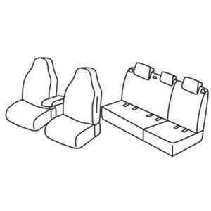 Sedežne prevleke za Škoda Fabia 3 Ambition plus
