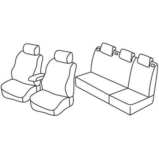 Sedežne prevleke za Škoda Fabia 2