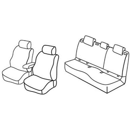 Sedežne prevleke za Škoda Octavia 3 Ambition