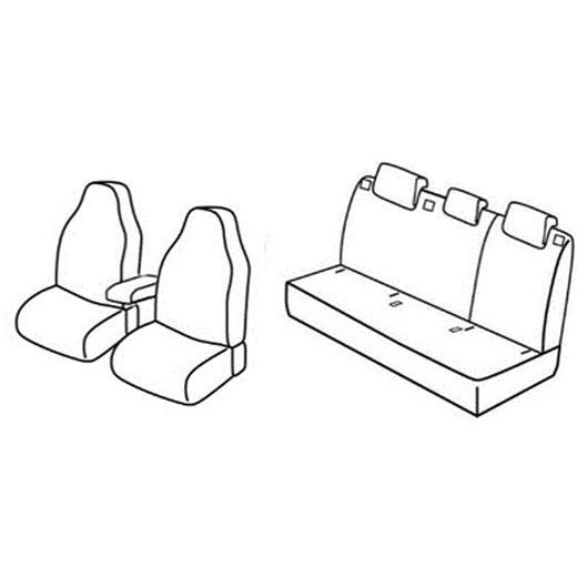 Sedežne prevleke za Škoda Rapid