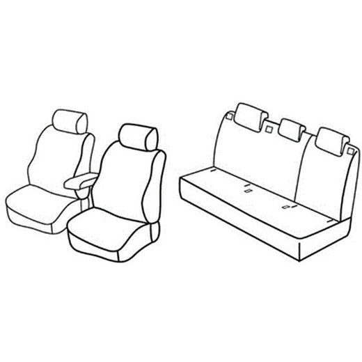 Sedežne prevleke za Škoda Rapid Seat Toleto