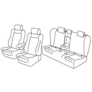 Sedežne prevleke za Škoda Superb 3 Active Style