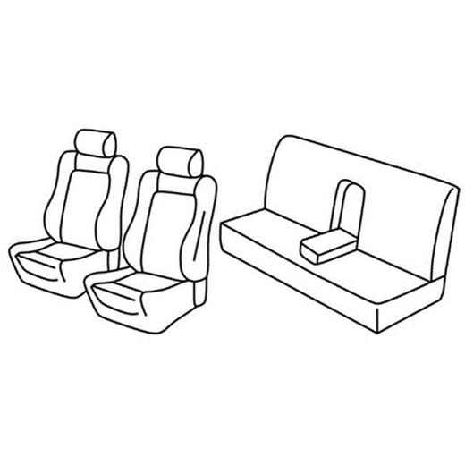 Sedežne prevleke za Subaru Impreza WRX