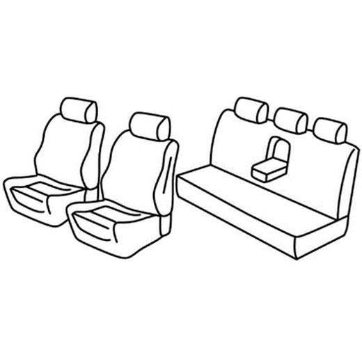 Sedežne prevleke za Subaru Legacy