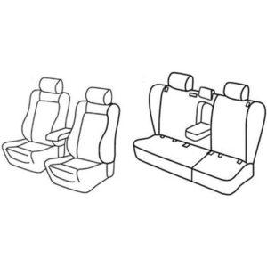 Sedežne prevleke za Toyota Avensis