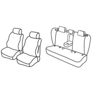 Sedežne prevleke za Toyota Avensis Sedan