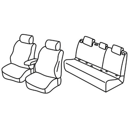 Sedežne prevleke za Toyota C-HR