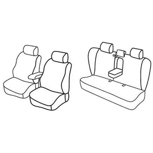 Sedežne prevleke za Toyota Corolla Sedan