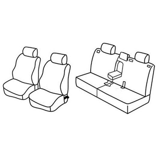 Sedežne prevleke za Toyota Land Cruiser