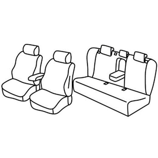 Sedežne prevleke za Toyota Prius