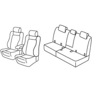 Sedežne prevleke za Toyota Rav4 Elegance