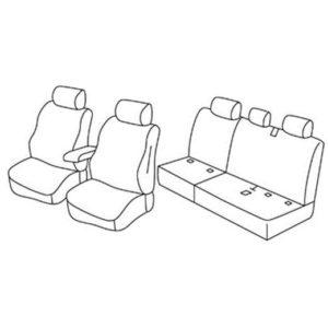Sedežne prevleke za Volkswagen Caddy Alltrack