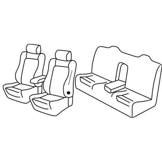 Sedežne prevleke za Volkswagen EOS Cabrio