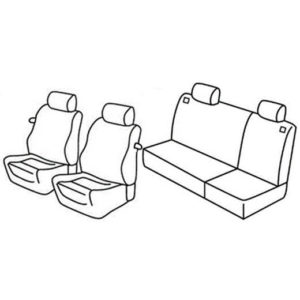 Sedežne prevleke za Volkswagen Golf 3