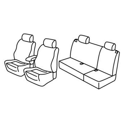 Sedežne prevleke za Volkswagen Golf 4 Variant